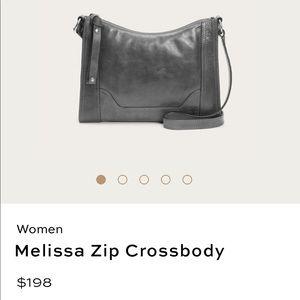 Frye Melissa zip crossbody purse color Carbon